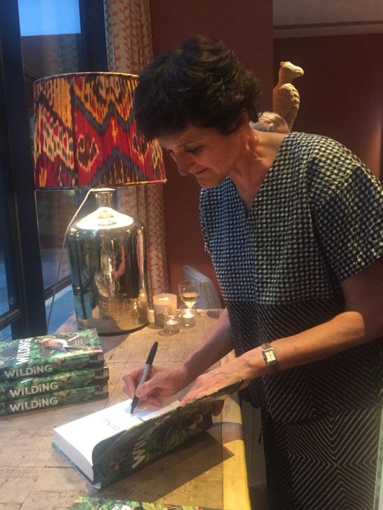 Isabella Tree Signing Books