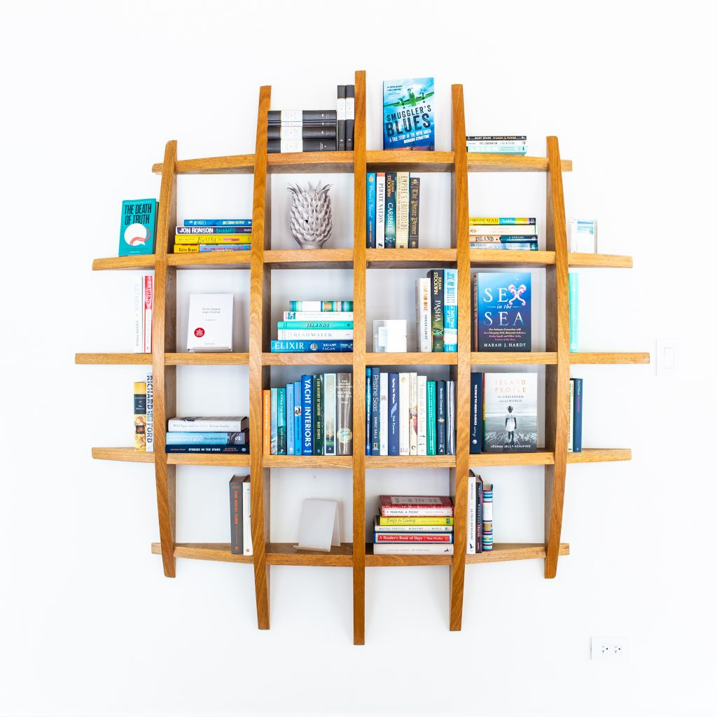 Oil Nut Bay Nut Shelf Library