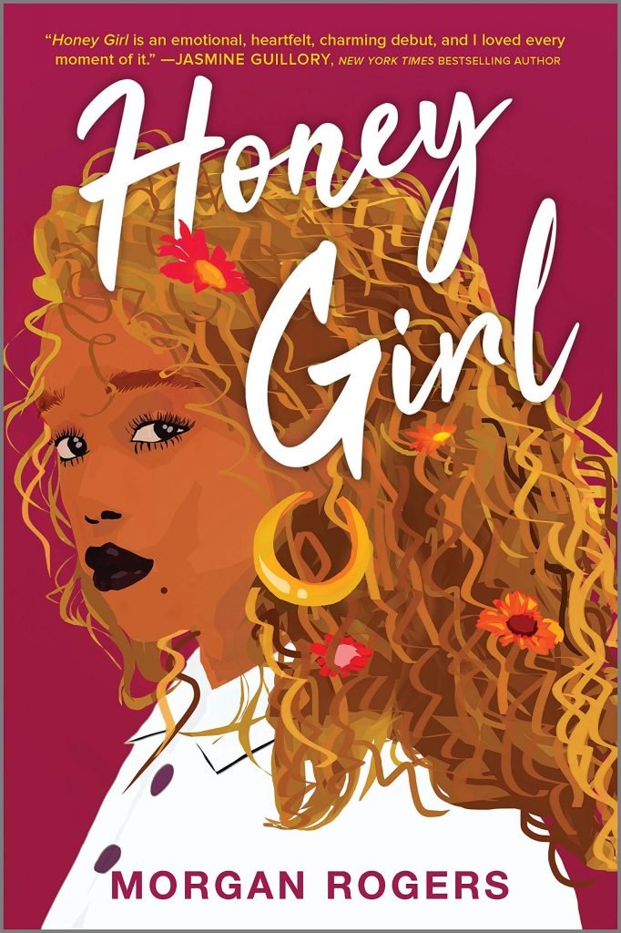 The cover of Honey Girl featuring an illustration of a woman with flowers in her hair.