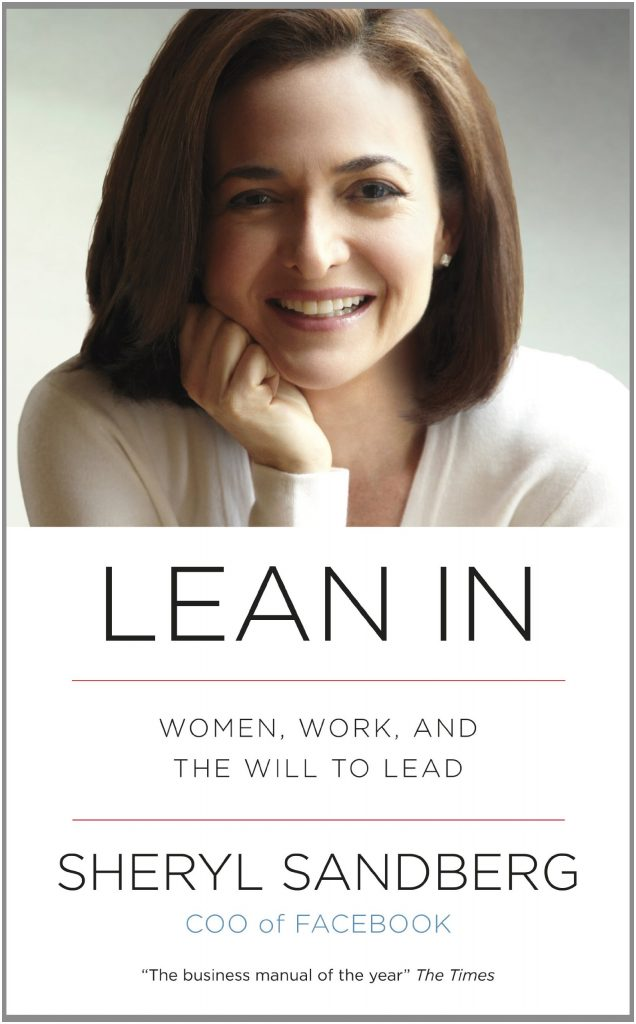 Cover of the book Lean In, featuring a photograph of Sheryl Sandberg.