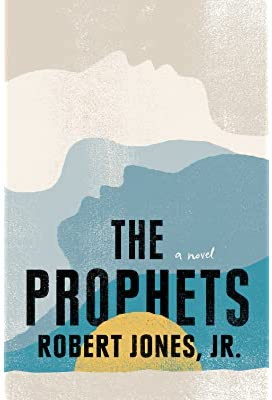 The cover of The Prophets featuring illustrations of peoples faces laid horizontally so they look like mountains.