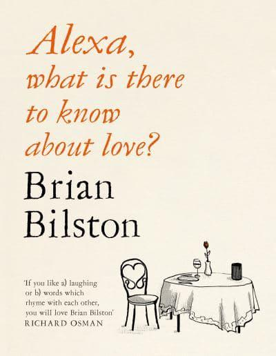 The cover of Alexa What is There to Know about Love featuring an illustration of one chair at a dining table.
