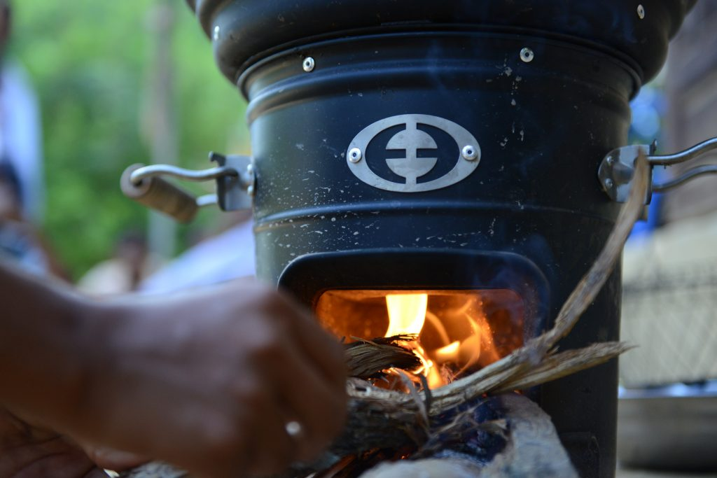 An image of one of the sustainable stoves give to families with the Myanmar Stoves Campaign.