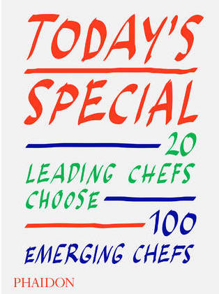The cover of 'Today's Special' cookbook by Phaidon. It featured red, green, and blue text on a white background.