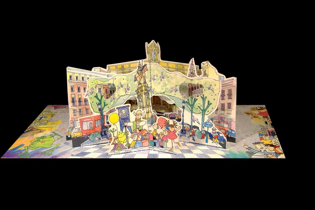 A photograph of a pop-up book by Marina.