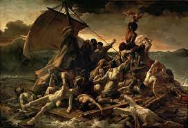 A photograph of The Raft of Medusa by Théodore Géricault one of the art pieces in the Louvre.