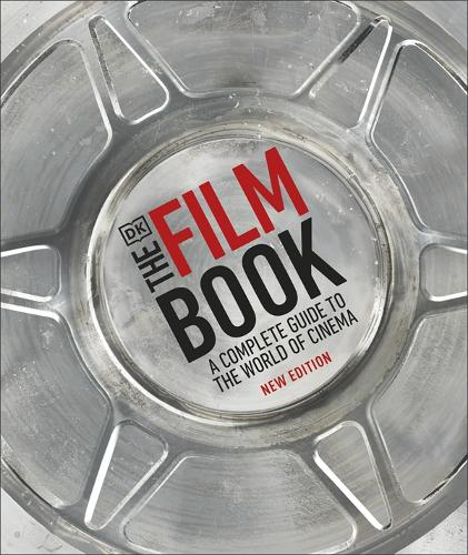 The cover of 'The Film Book' by Ronald Bergan, it features red and black text in the centre of a film reel.