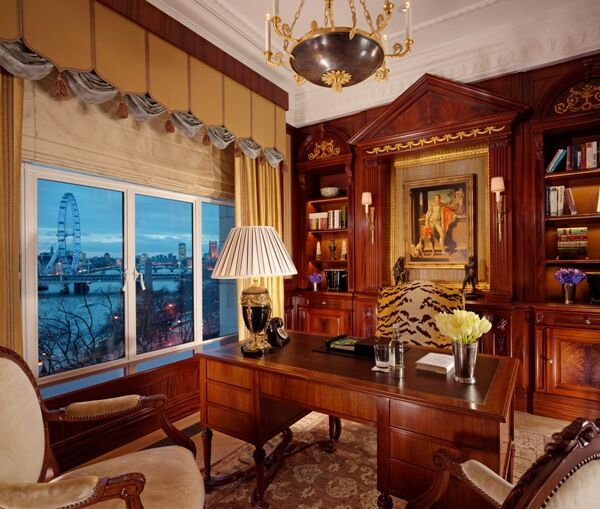A photo of a suite at The Savoy Hotel.