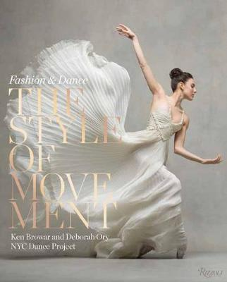 The cover of the book 'The Style of Movement' by Ken Browar and Deborah Ory featuring gold text over a photograph of a dancer.